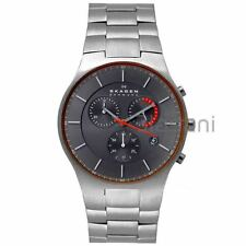 Skagen Original SKW6076 Men's Balder Grey Dial Titanium Watch 42mm Chronograph