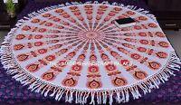 Indian Hippie Mandala Beach Tapestry Throw Yoga Mat Cotton Round Wall Hanging