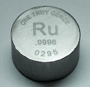 1 Oz RUTHENIUM Bullion Bar by RWMM 999.6 - 0295