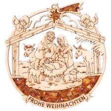 HängedekoWeihnachten Baumschmuck Dekor Handarbeit mit Bernstein gefüllt. /V-05/