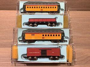 4 N Scale Bachmann Old Time Cars Union Pacific UPRR Combine Coach Boxcar Gondola