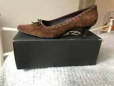 ECCO COURT BROWN SUEDE SHOES 41 7.5 BOW OFFICE