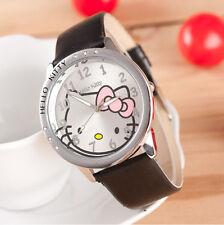 Hello Kitty Clear Austrian Rhinestone Girls Ladies Wrist Quartz Watch - Black