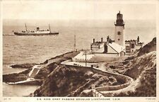POSTCARD  SHIPS    SS  KING  ORRY   Passing  DOUGLAS  Lighthouse   IOM   TUCK