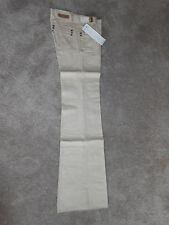 """60's Authentic Vintage Brittania Denim Khaki Tan Jeans Pants Womens 29"""" waist!"""