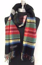 Men Women 100% CASHMERE SCARF SCOTLAND Plaid Red Black green Soft Wool Wrap