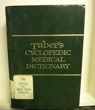 Taber's Cyclopedic Medical Dictionary (1989, Hardcover, Revised)