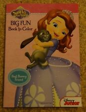 Disney Sofia The First Big Fun Book To Color Best Bunny Friend New Free Shipping