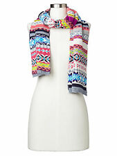 Gap NWT Crazy Fair Isle Stripe Merino Wool Blend Winter Scarf $45