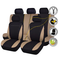universal Car Seat Covers Protecteor Washable SUV Truck Black Beige Bench Split