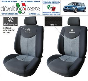 COPPIA COPRISEDILI VW GOLF VII SU MISURA Foderine SOLO ANTERIORI Nero 38
