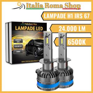 Coppia Lampade Led Per Auto Moto H1 IRS 67 6500K 24.000LM LUCE BIANCO GHIACCIO