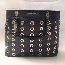 SAC KARL LAGERFELD SOLD OUT CABAS CUIR ET METAL CHAINE POCHETTE  NEUF