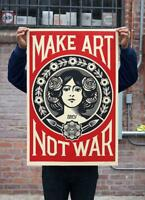 Shepard Fairey aka Obey | Make Art Not War | 2019 Signé à la main