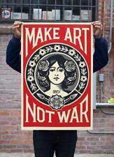 Shepard Fairey aka Obey | Make Art Not War | 2020 Signé à la main | COA
