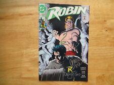 1991 DC COMICS ROBIN # 5 1ST MINI-SERIES SIGNED 2X TOM LYLE & CHUCK DIXON,  POA