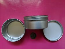More details for aluminium tins jars pots containers & epe lined screw lids 150ml uk seller jna