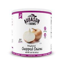 Augason Dehydrated Chopped Onion 1lb 7oz No.10 Can Freeze Canned Dried Food Veg.