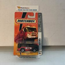 City Bus #50 * RED/Black * Matchbox * B9