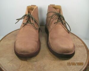 Cabelas Beige Suede Leather Chukka Desert Boots  Crepe Sole Size 10M