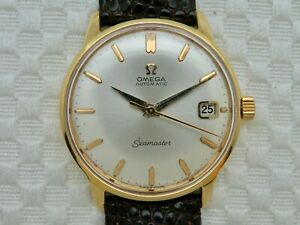 18K Solid Gold Omega Seamaster Automatic Wristwatch 1959 Swiss 165.001 Cal. 562