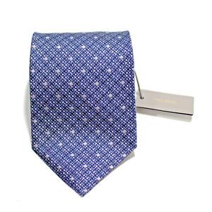 Men's Tom Ford 100% Silk Cobalt Blue Silver Woven Polka Dot Neck Tie MSRP $240