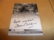 JENNIE LINDEN JL2 PROOF AUTOGRAPH CARD THE PERSUADERS ROGER MOORE TONY CURTIS