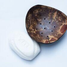 Bathroom Handmade Natural COCONAT SHELL Soap Holder Dish Kitchen Bar X-Mas Gift