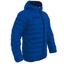 Givova Olanda Royal Blue Winter Quilted Padded Jacket Coat Football Managers