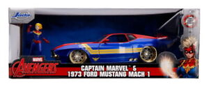 Hollywood Rides 1973 Ford Mustang Mach 1 with Captain Marvel 1:24 (Jada 31193)