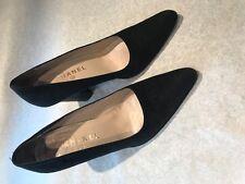 Chanel Black Suede Pump Size 40