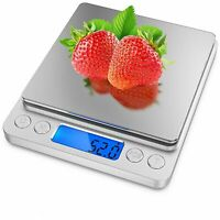 Digital Scale 3000g x 0.1g Jewelry Gold Silver Coin Gram Pocket Size Grain US SS
