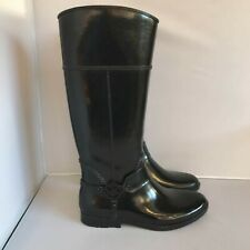 New Michael Kors Women's Wellington Boots UK 8 Black Rubber Waterproof 281760