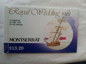 1981 Montserrat Royal Wedding  Commemorative Stamp booklet