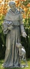"""36.5"""" St Francis with Deer Figure Outdoor Garden Statue Joseph's Studio # 42345"""