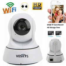 Wireless Pan Tilt 1080P HD Network IP Camera Wifi Webcam Two-way Audio IR-CUT