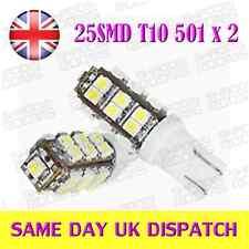 25 LED SMD T10 W5W 501 light Bulbs Ultra White (Pair)