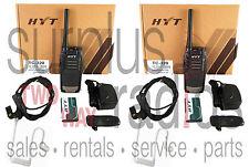 2 HYT TC-320 TC320 16CH 400-470MHZ RADIOS COMPACT BUSINESS WAREHOUSE RETAIL BAR