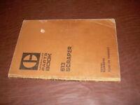 CATERPILLAR CAT 613 TRACTOR PARTS BOOK MANUAL S/N 72M1 TO 4267 SCRAPER