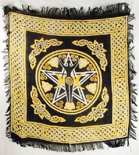 "Pentagram Goddess Altar/Tarot Cloth 18"" x18"" Wicca Pagan"