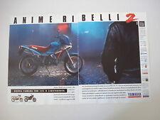 advertising Pubblicità 1991 MOTO YAMAHA TDR 125 R LIGHTBURNER
