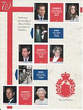 Sierra Leone 2011 MNH Royal Wedding Prince William Kate 6v M/S Royalty Stamps