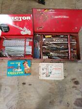 LQQK! 2 Vintage A C Gilbert  Erector-Set Box No. 3 No. 6 1/2 PARTS LOT