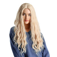 """24"""" Long Wavy Blonde Wigs Curly Hair Synthetic Wig Women Cosplay Party Wigs"""