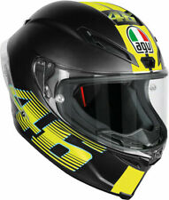 CASCO INTEGRALE AGV CORSA R V46 NERO OPACO IN FIBRA MADE IN ITALY TG MS 57-58 CM