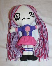 """OOAK Goth Punk Cloth Rag Doll Turddemon Allyson Gutchell Handmade 11"""" Ice Cream"""