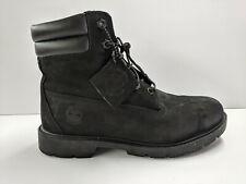 Timberland 6 Inch Premium Black Leather Fashion Boots Womens 9.5 M