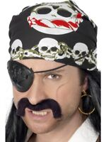 Pirate Buccaneer Bandanna Adult Unisex Smiffys Fancy Dress Costume Accessory