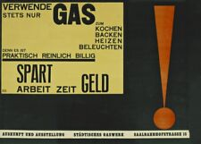 Use Only Gas, Walter Dexel, 1923, Reproduction Vintage Bauhaus Poster
