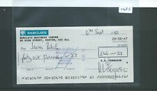CHEQUE - CH1485 -  USED -1992 - BARCLAYS BANK, BUSINESS CENTRE, EXETER.
